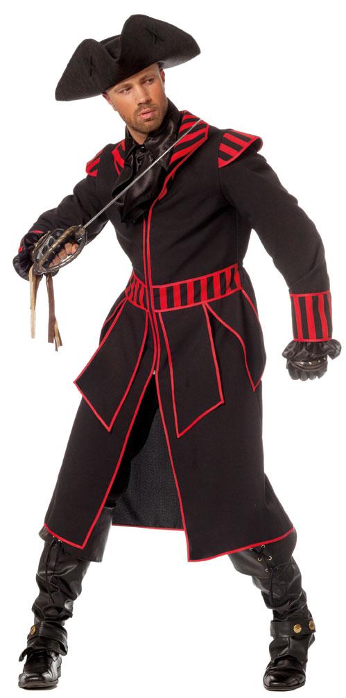 Piraten Kostum Herren Kostum Pirat Kapitan Schwarz Rot Piraten