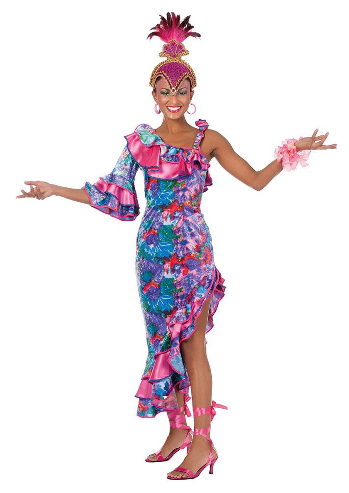 Samba Kostüm Samba Kleid lang Brasilianerin Brasilien Kostüm Rio ...