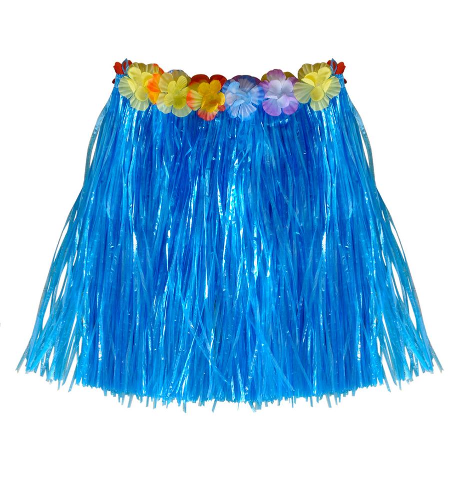 super popular f2e58 98888 Kostüm Hawaii Rock mit Aloha blau kurz