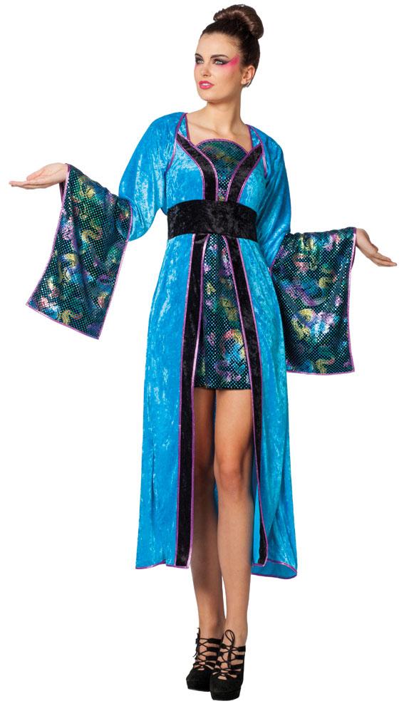 kost m japanerin geisha t rkis karneval chinesin asien damenkost m ebay. Black Bedroom Furniture Sets. Home Design Ideas
