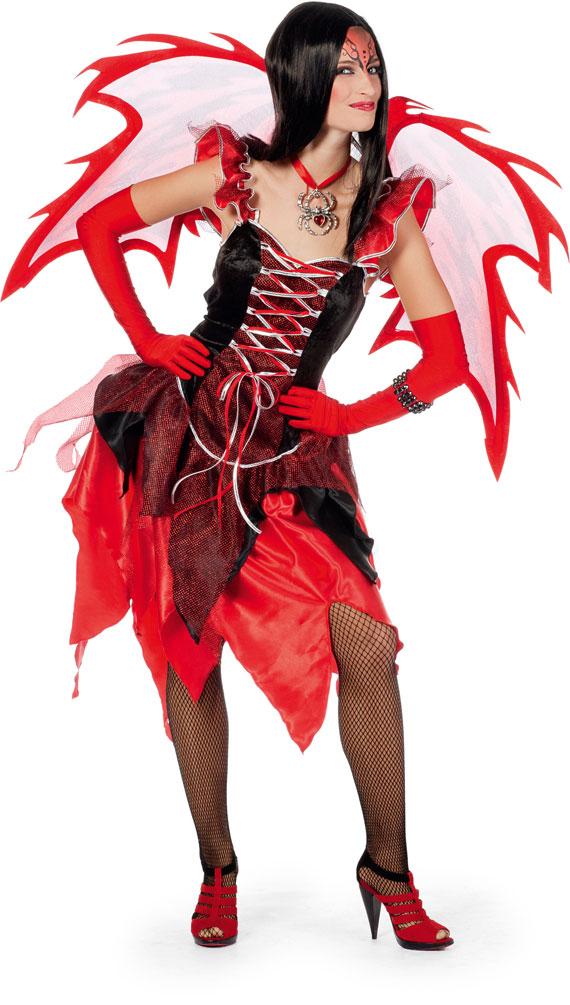 Teufel Kostum Damen Sexy Kleid Rot Mit Tull Kostume