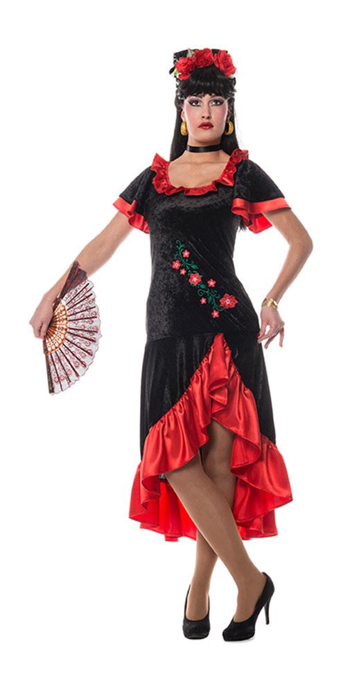 spanierin kost m damen aus samt damen kost m flamenco kost m spanien kost me. Black Bedroom Furniture Sets. Home Design Ideas