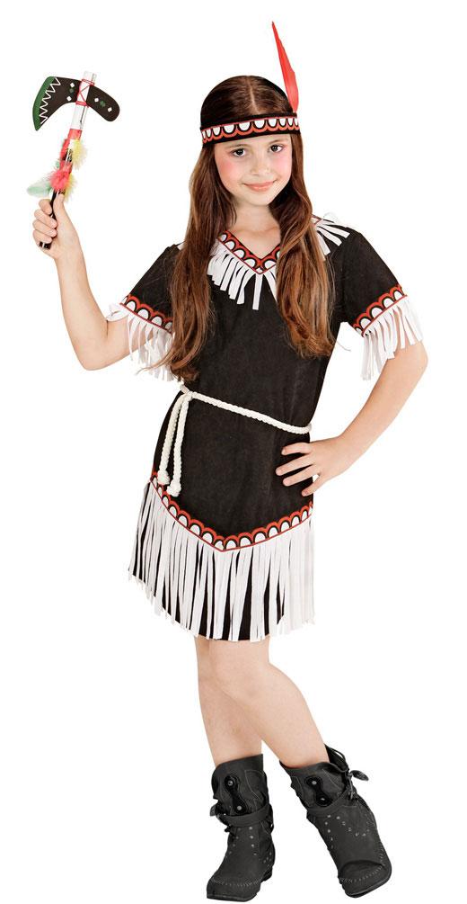 Indianer In Kostum Kinder Madchen Kostum Schwarz Weiss Kinderkostum