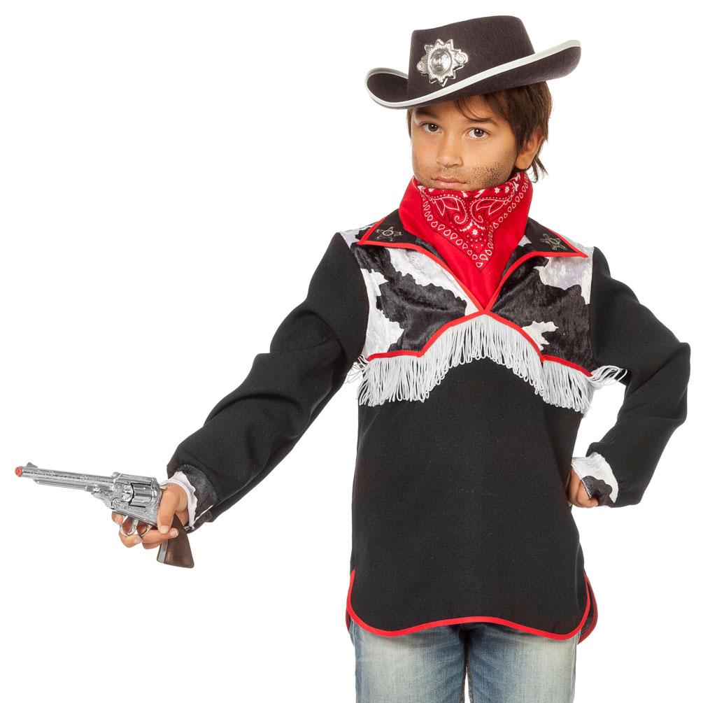 Cowboy Kostum Kinder Jungen Cowboy Hemd Westernkostum Rot Schwarz