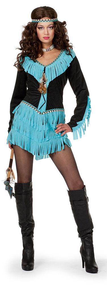 Indianer In Kostum Damen Indianerin Sexy Damenkostum Kleid Stirnband