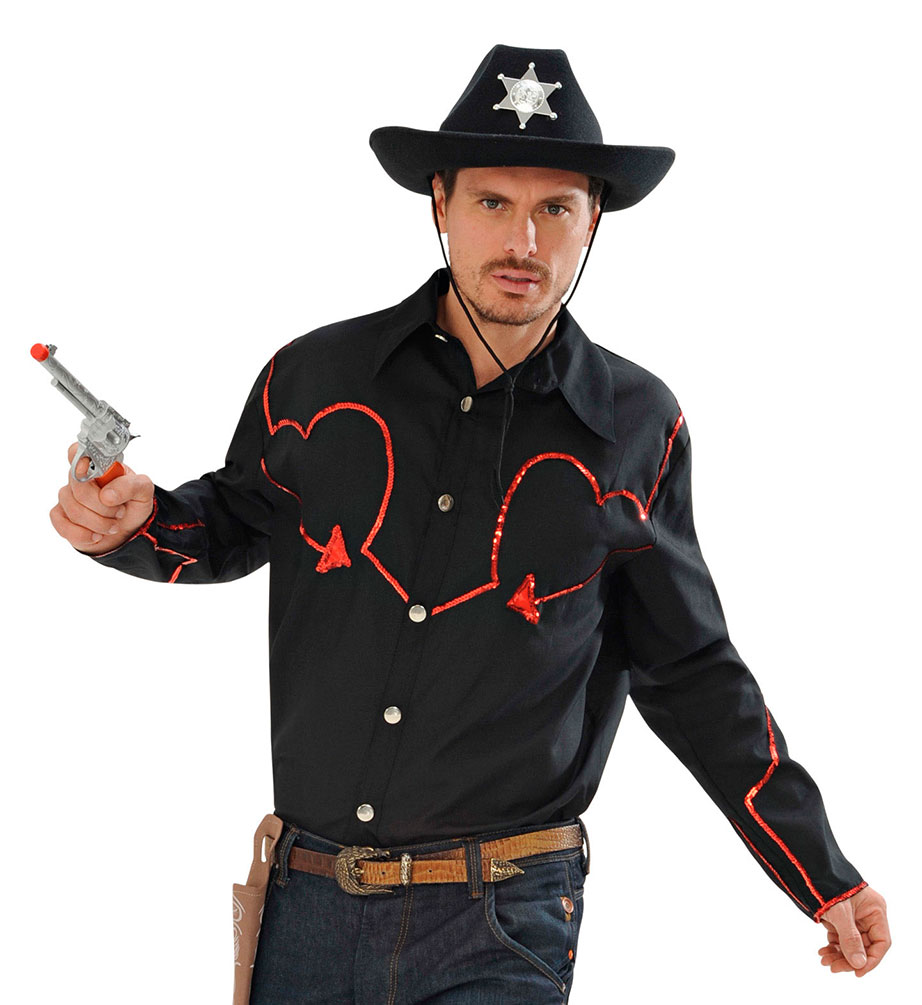 Cowboy Kostum Herren Cowboy Hemd Western Kostum Rot Schwarz Kostume