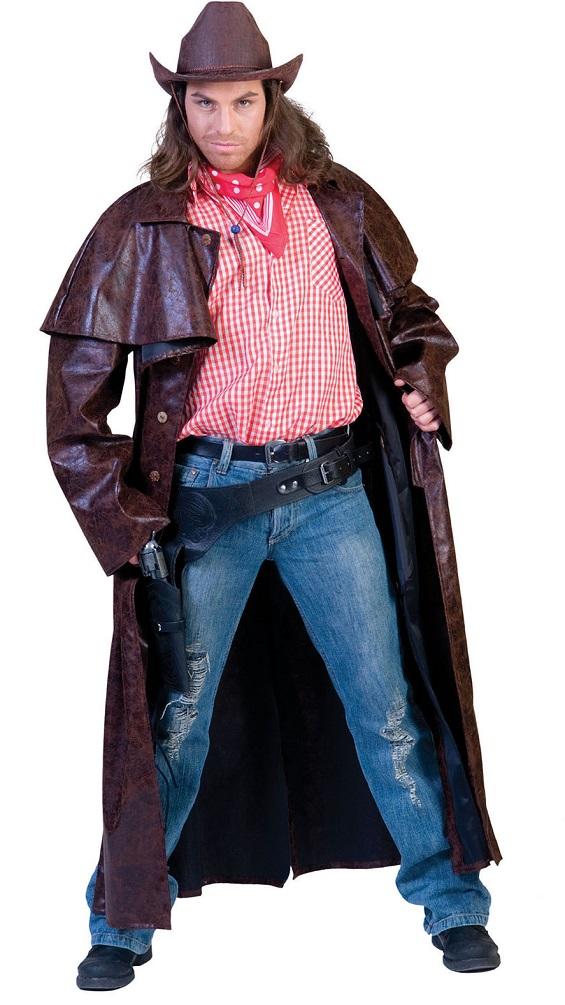 cowboy kost m herren cowboy mantel braun western kost m kost me g nstige karnevalskost me von. Black Bedroom Furniture Sets. Home Design Ideas