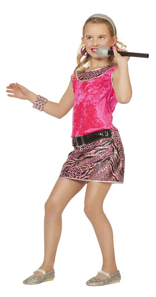 Rockstar Madchen Kostum Popstar Kinder Kostum Sangerin Musikerin