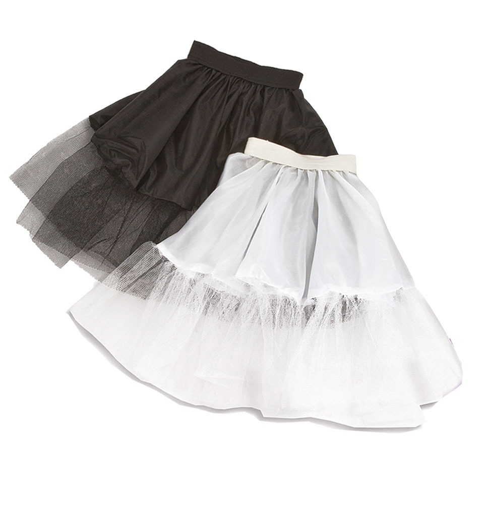 timeless design ff481 e6f2c Petticoat Unterrock Tutu Tüll-Rock Kinder kurz weiß Mädchen-Kostüm