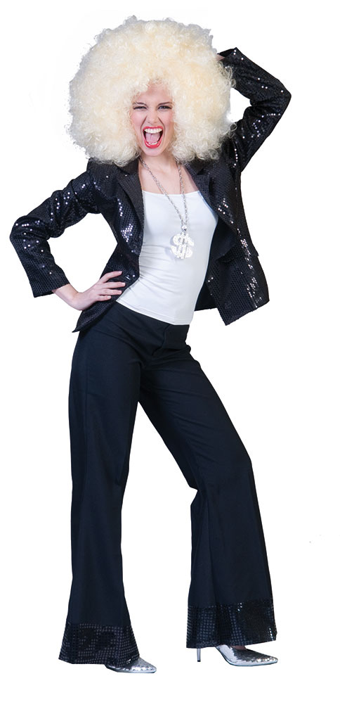 pailletten jacke disco jacke 80er jahre weste schwarz damen jacke kk ebay. Black Bedroom Furniture Sets. Home Design Ideas