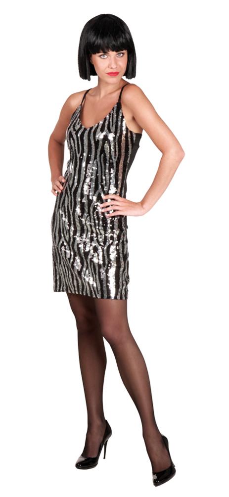 Charleston Kleid Charleston Kostüm 20 Jahre schwarz silber ...