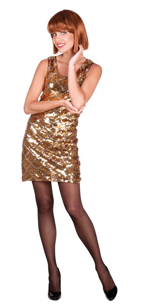 Charleston kleid schwarz gold