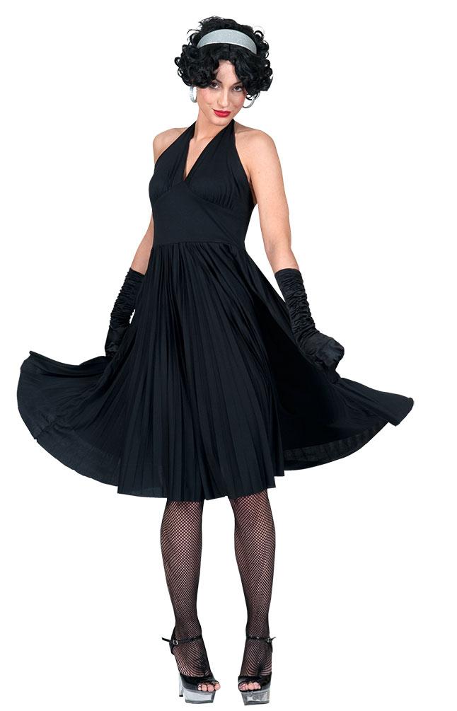 marilyn monroe kleid neckholder 50er jahre kleid schwarz damen kost m karneval k ebay. Black Bedroom Furniture Sets. Home Design Ideas