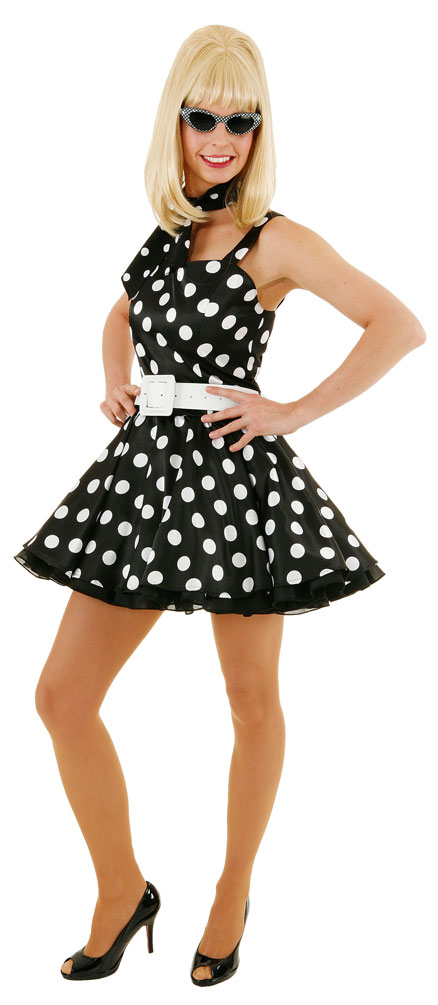 rock n roll kleid rockabilly kleid 50er jahre mini kleid. Black Bedroom Furniture Sets. Home Design Ideas