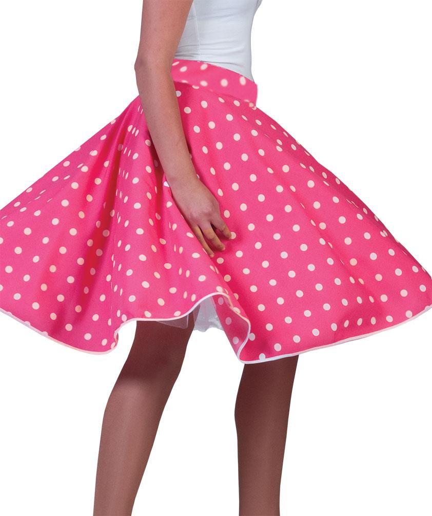 b0d6eb4fb8d0 Details zu Rock n Roll Rock Damen 50er Jahre Rockabilly Teller-Rock pink  rosa Damen-Kostüm