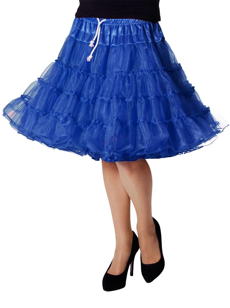 Jupon femmes tüllrock Jupon luxe comme Rock Tütü Tütü Tütü Bleu Long Femmes-Costume KK cf790e