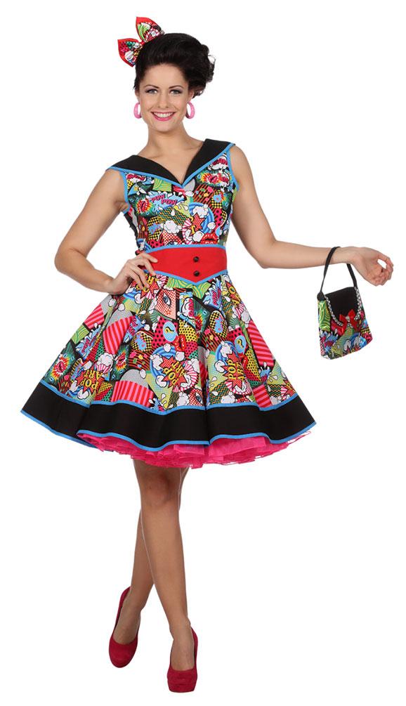 Offizieller Lieferant großer Abverkauf Weltweit Versandkostenfrei 50er Jahre Pop Art Kostüm Damen