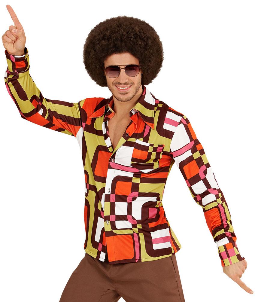 Hippie Kostum Herren Hippie Hemd 70er Herren Kostum Retro Hemd