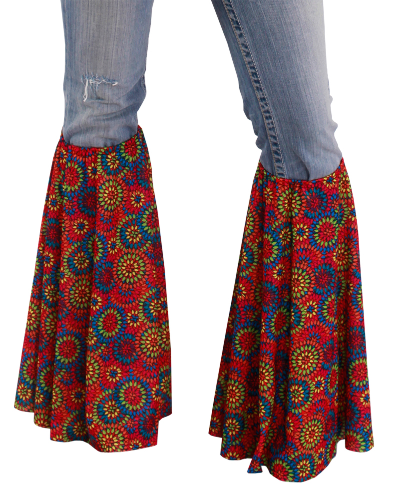 f8e8a76db95b Flower Power Kostüm Hippie Schlager Stulpen Beinstulpen Damen Herren