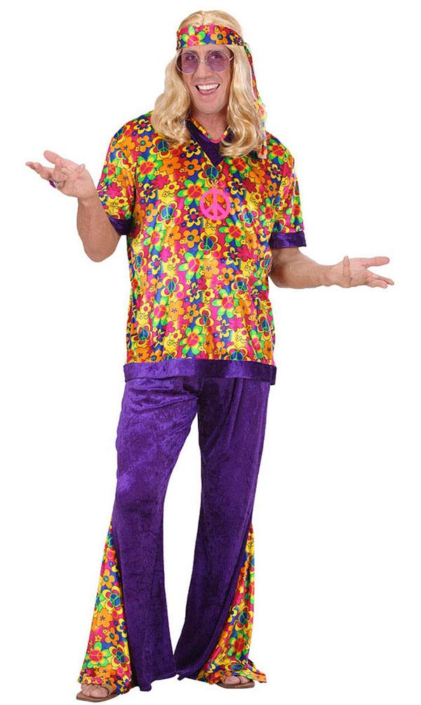 Hippie Kostum Herren Flower Power Peace Kostum 60er 70er Jahre Bunt
