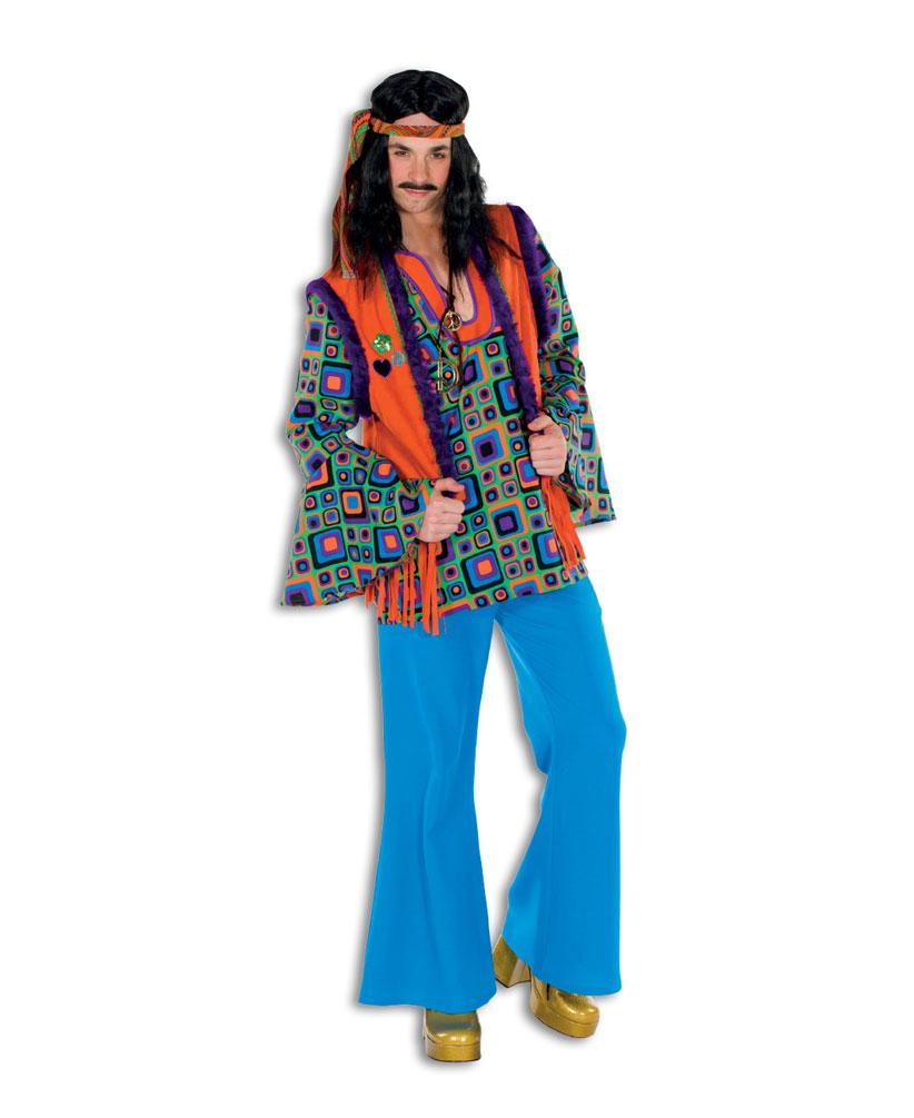 hippie hemd kost m herren flower power peace hemd 60er. Black Bedroom Furniture Sets. Home Design Ideas