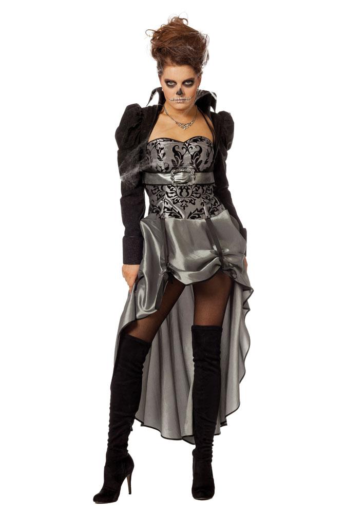 Original- Werksverkauf tolle sorten Gothic Kostüm Damen sexy silber schwarz