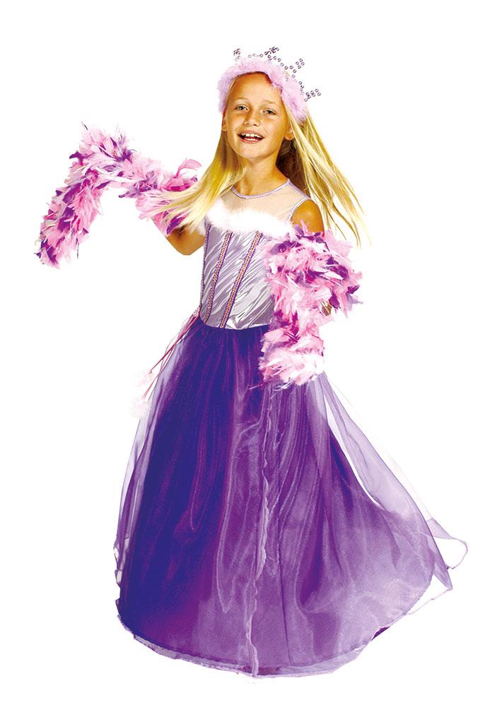 Prinzessin Kostum Prinzessin Kleid Madchen Lila Silber Karneval