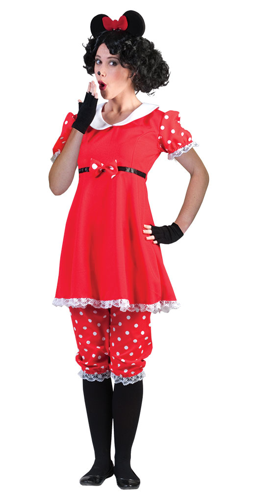 minnie mouse kost m damen minnie maus kleid karneval damen kost m kk ebay. Black Bedroom Furniture Sets. Home Design Ideas