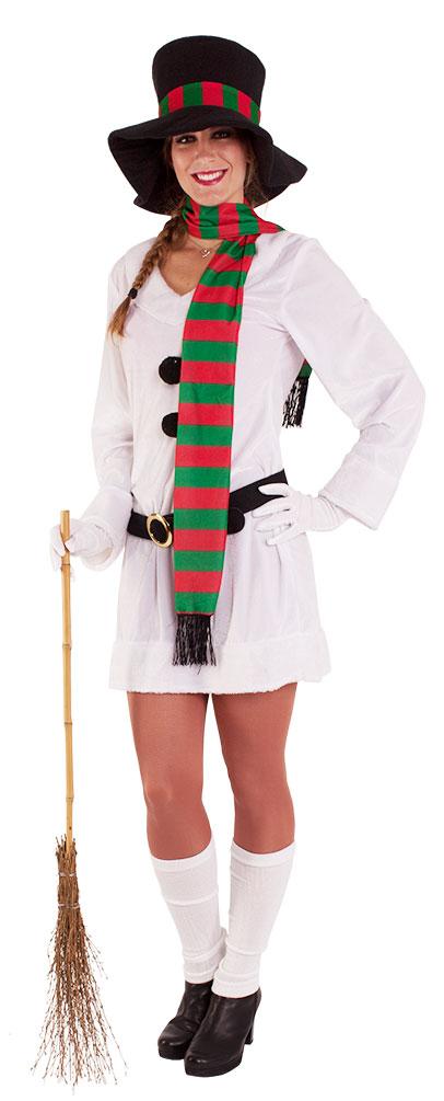 schneemann kost m damen kost m schneefrau weihnachten erwachsene hut schal kk ebay. Black Bedroom Furniture Sets. Home Design Ideas