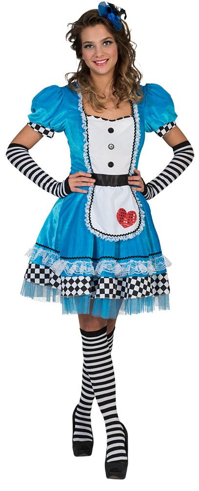 Alice Im Wunderland Kostum Damen Alice Kleid Herz Marchen Damen