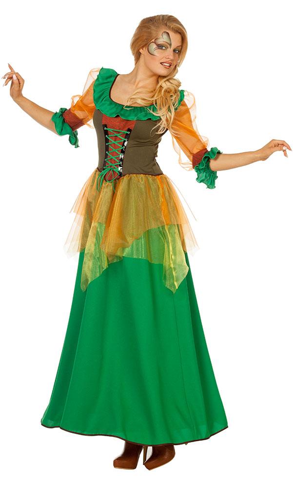 Waldfee Kostum Damen Herbstfee Fee Damen Kostum Grun Lang Kostume