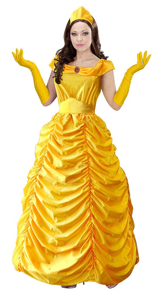 Belle Kostüm Mädchen Märchen Prinzessin Damen Kostüm