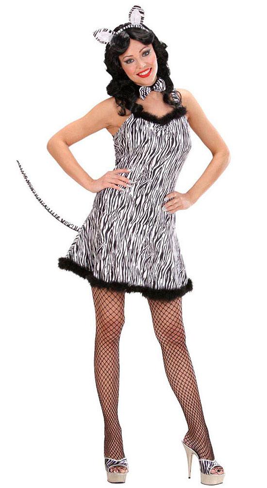 Kostum Sexy Zebra Zoo Dame Kostume