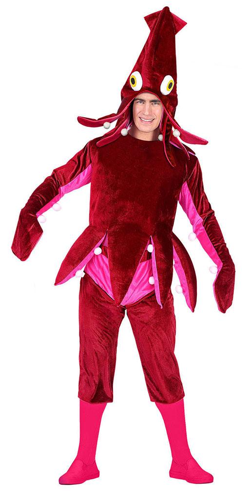 5b991066a8 Oktopus Kostüm Erwachsene mit Oktopus Hut Tintenfisch Krake Karneval ...