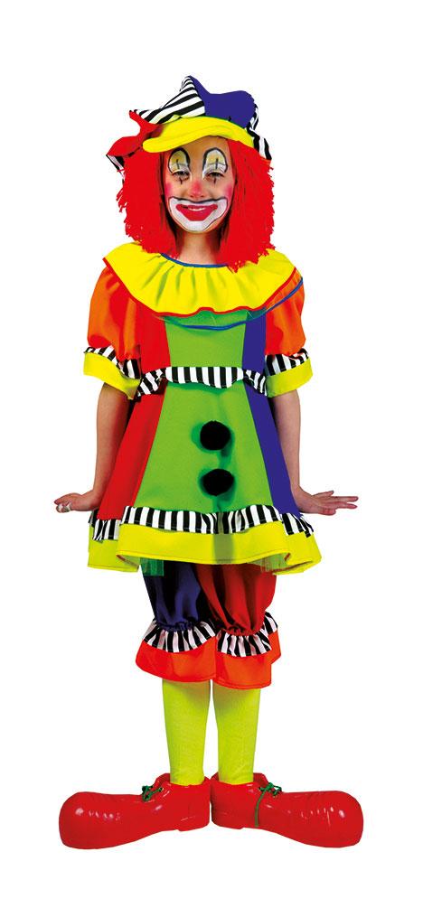 clown kost m kinder m dchen bunt kleid pluderhose inkl m tze kost me g nstige. Black Bedroom Furniture Sets. Home Design Ideas