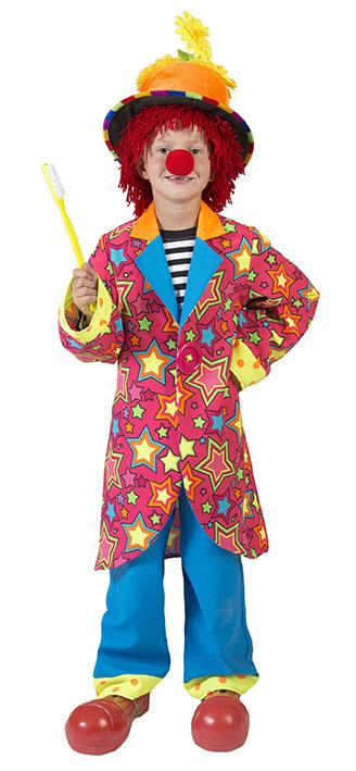 Kundschaft zuerst Kundschaft zuerst unverwechselbares Design Clown-Kostüm Kinder Jungen neonfarben bunt Sternen Hose Clown-Mantel