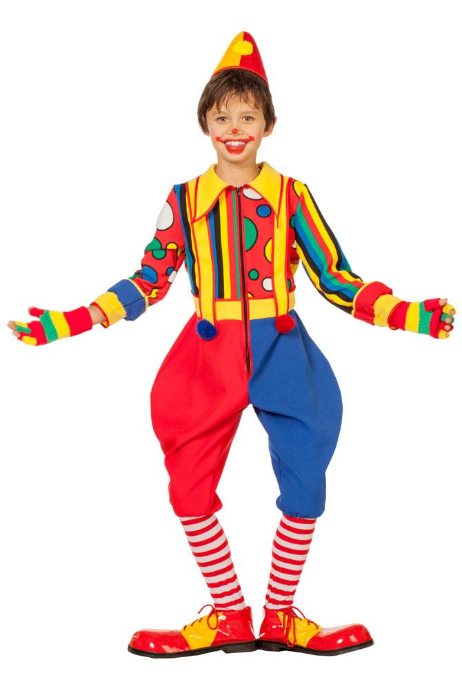 Clown Kostum Kinder Jungen Bunt Gepunktet Gestreift Overall Kostume
