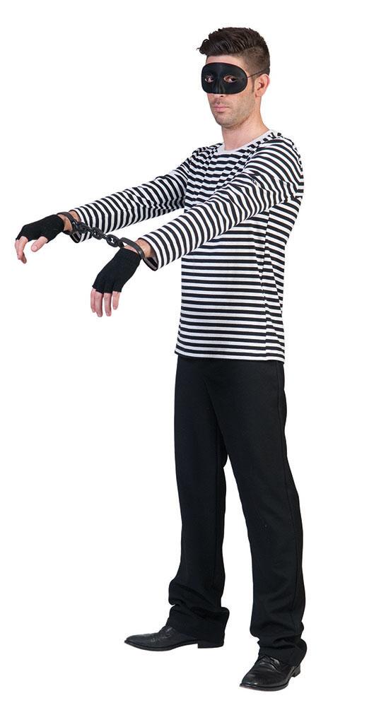 Kostum Ringelpulli Strafling Schwarz Weiss Kostume
