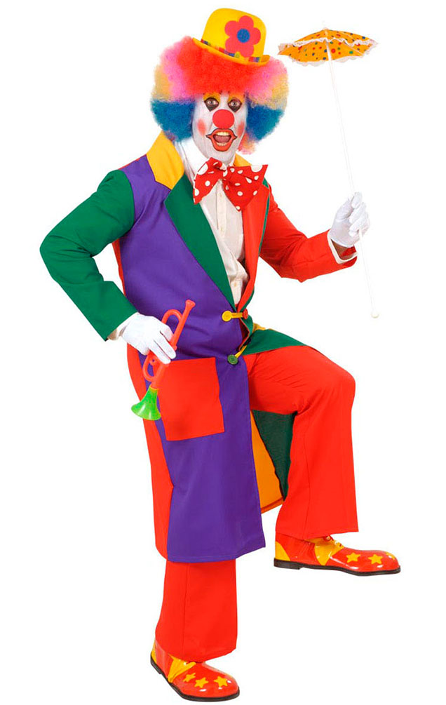 Clown Kostum Herren Bunt Manner Clown Mantel Karneval Fasching Kostume