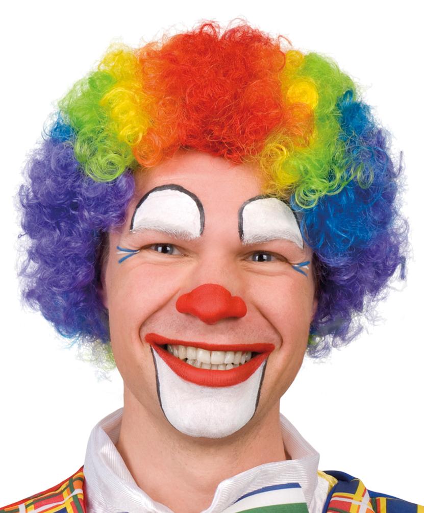 Perucke Clown Locken Regenbogen Perucken