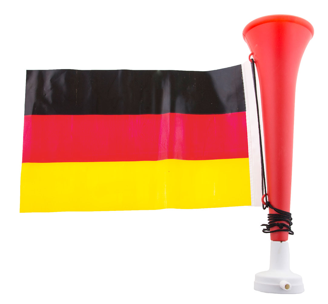 Tröte Fan Fußball Tröte Mit Deutschland Flagge Schwarz Rot Gold Wm
