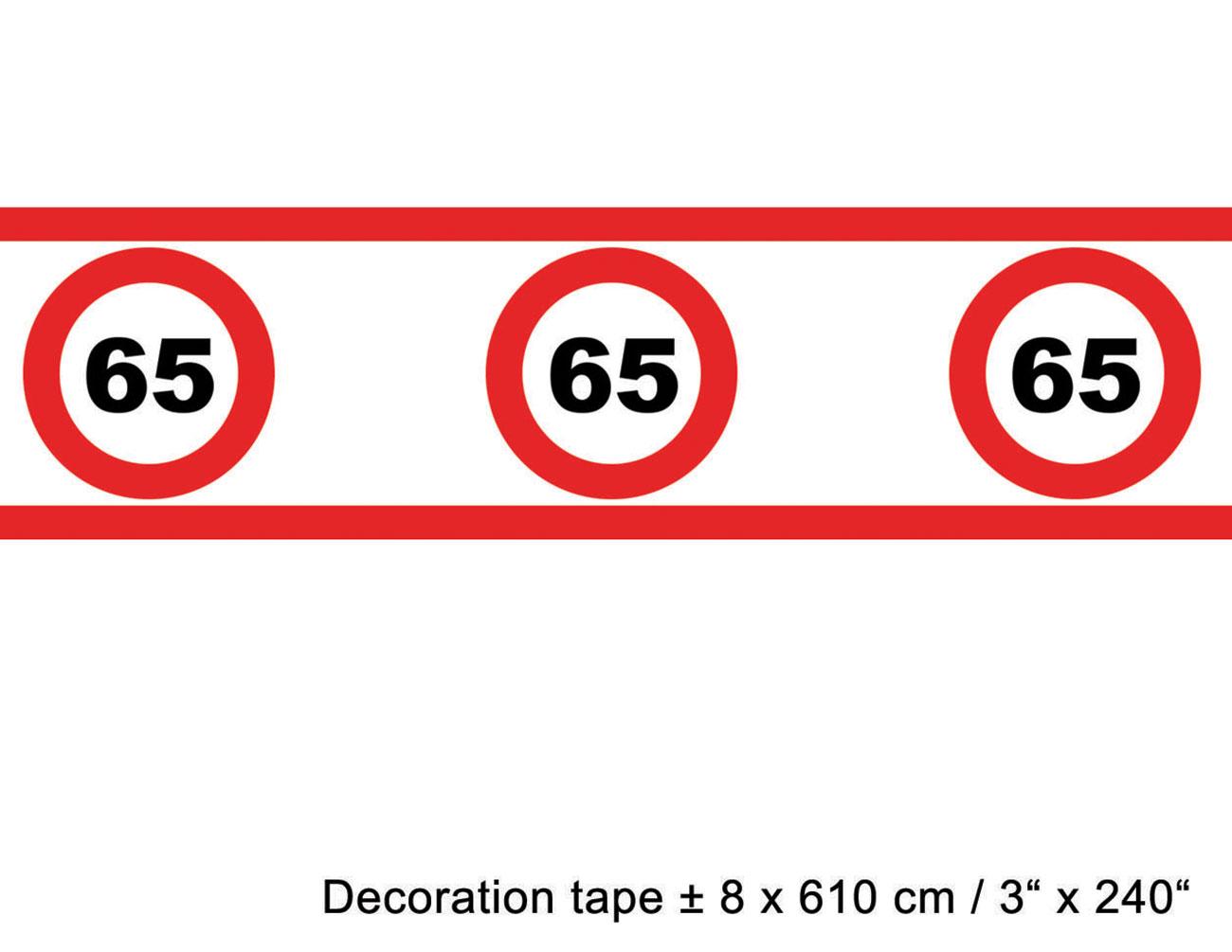 absperrband geburtstag 65 jahre dekoration g nstige. Black Bedroom Furniture Sets. Home Design Ideas