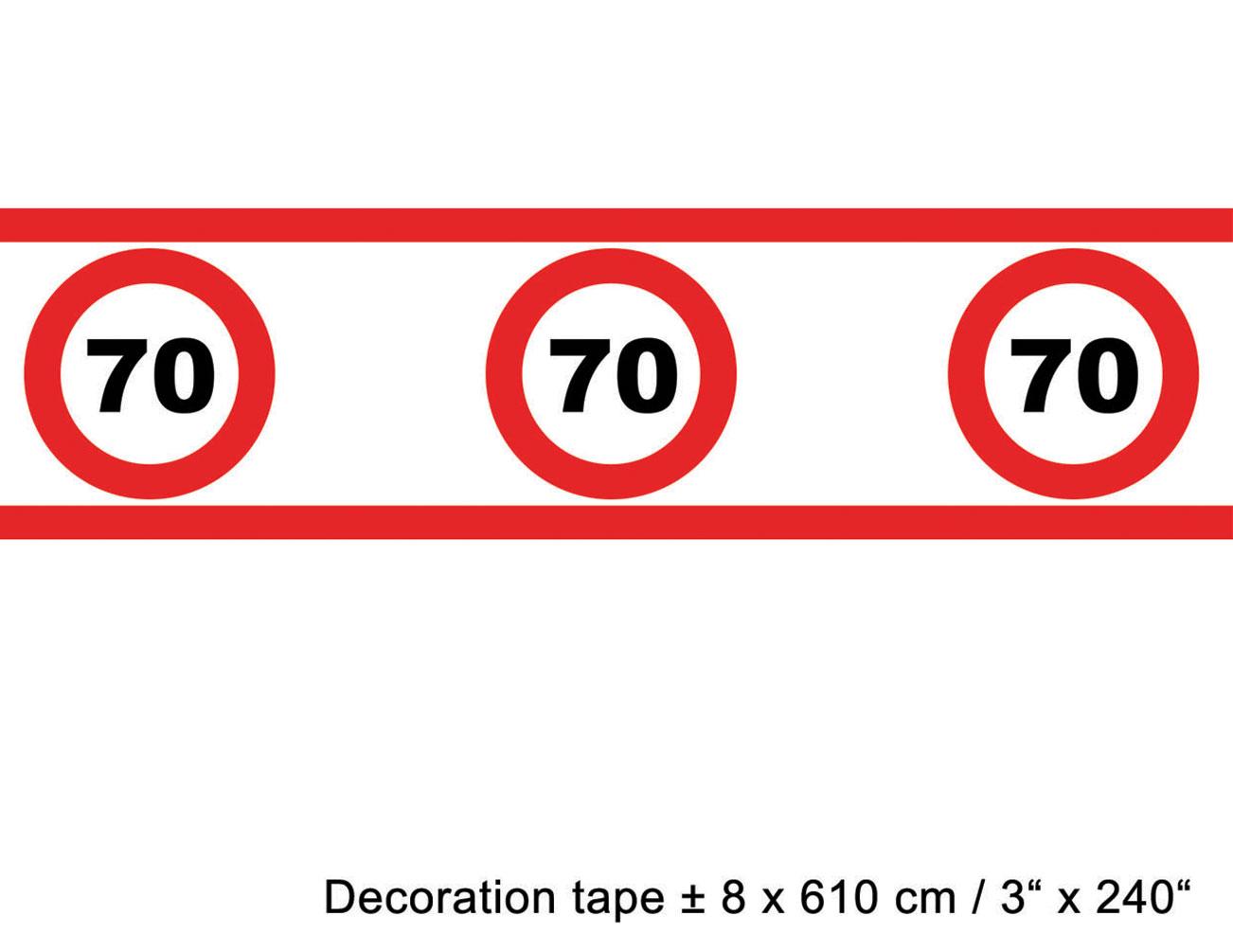 absperrband geburtstag 70 jahre dekoration g nstige. Black Bedroom Furniture Sets. Home Design Ideas