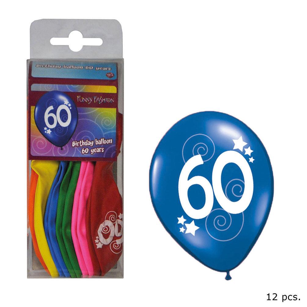 Luftballons Bunt Geburtstag 60 Jahre