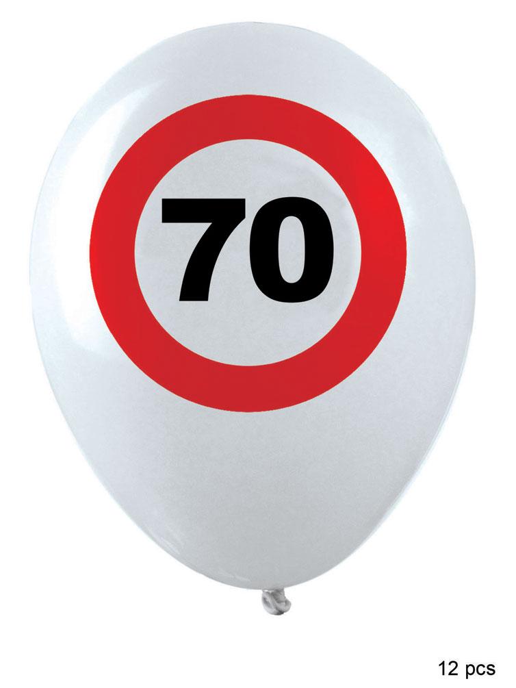 Luftballons geburtstag 70 jahre verkehrsschild dekoration for Dekoration 70 jahre
