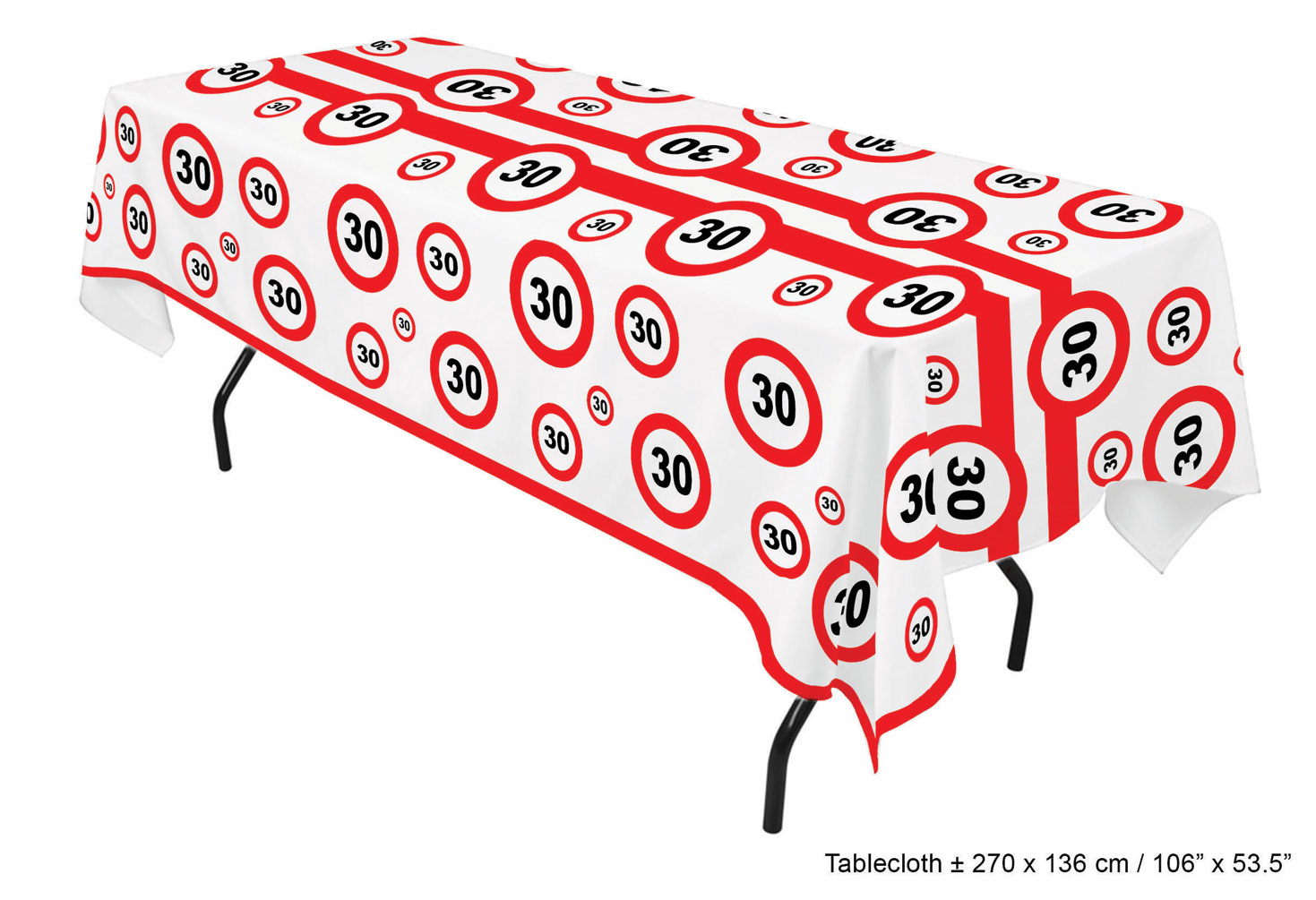30 Geburtstag Deko Tischdecke Tischdeko
