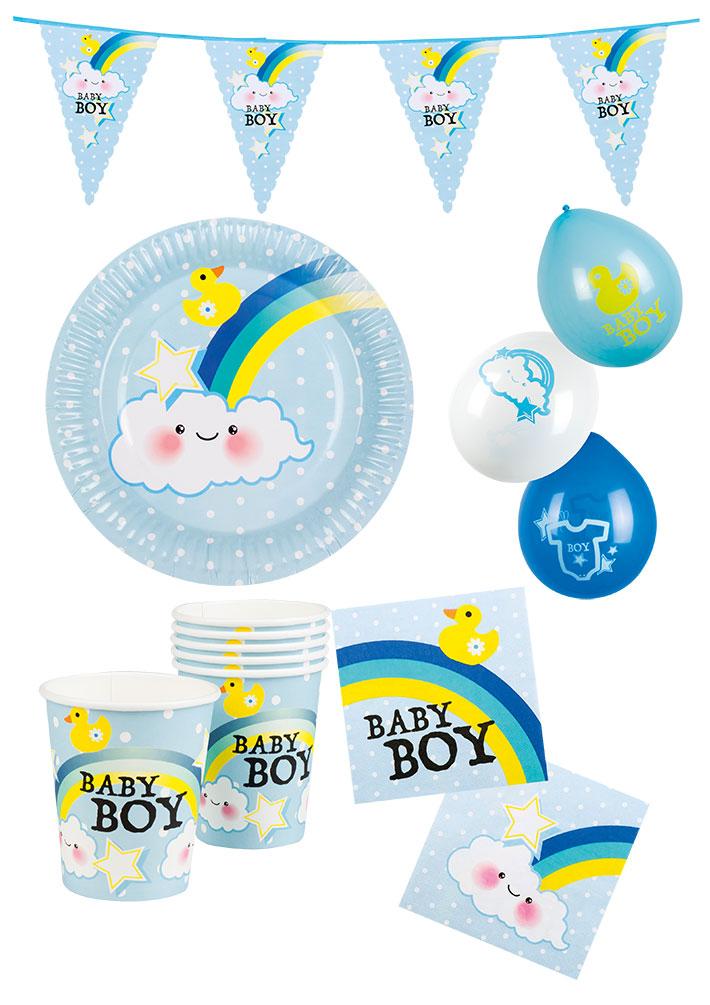 Party Deko 24 : baby geburtstag deko junge party set 24 teile mit girlande ~ Watch28wear.com Haus und Dekorationen