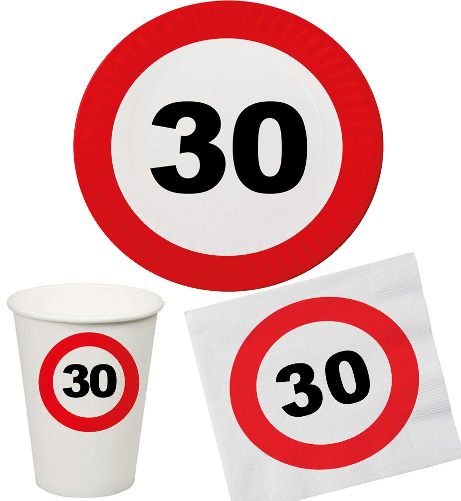 30 Geburtstag Deko Tischdekoration Teller Becher Servietten 8 Personen