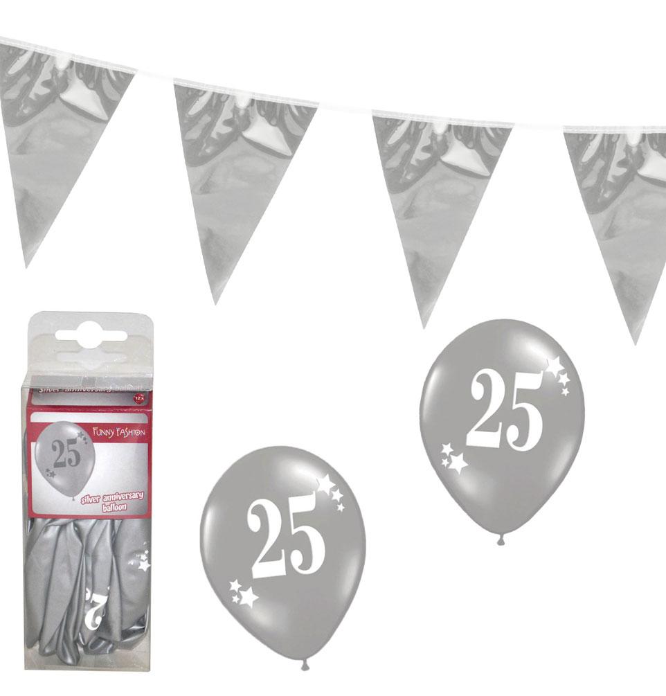 Silberne hochzeit raumdeko party set dekoration g nstige for Hochzeit raumdeko
