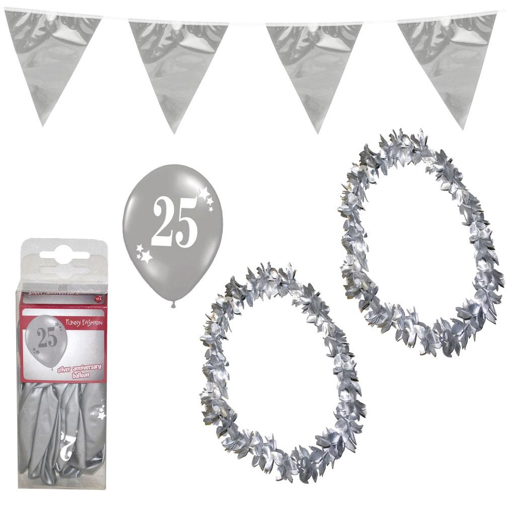 silberne hochzeit party deko accesoire set xxl dekoration g nstige karnevalskost me von. Black Bedroom Furniture Sets. Home Design Ideas
